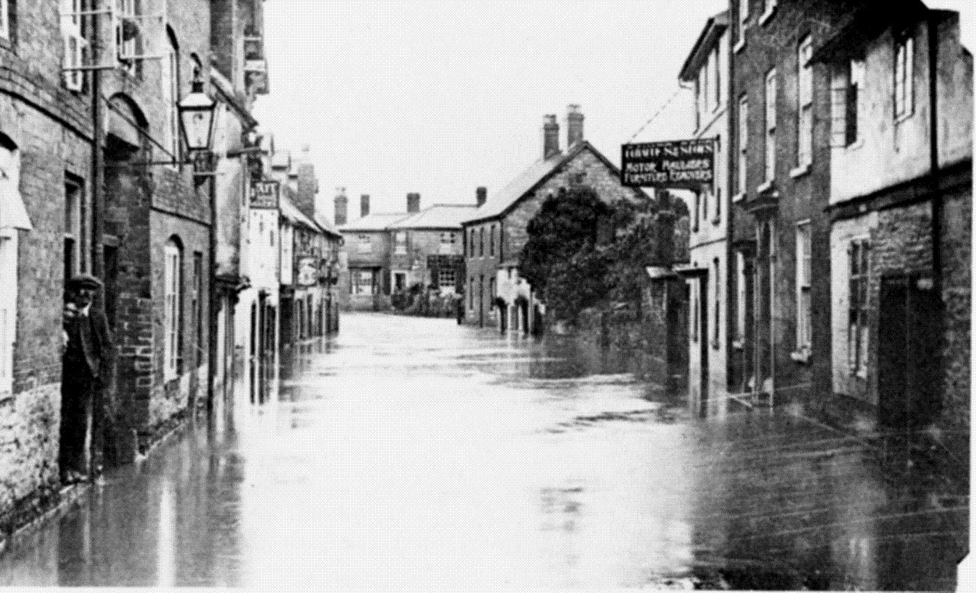 flooding in Ludlow - lower Corve Street 1924